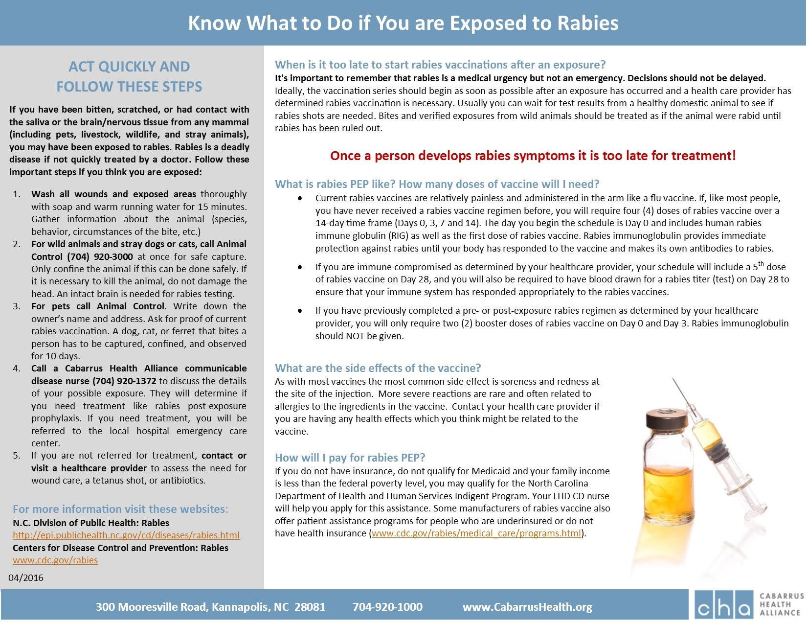 Know What to Do if You Are Exposed to Rabies