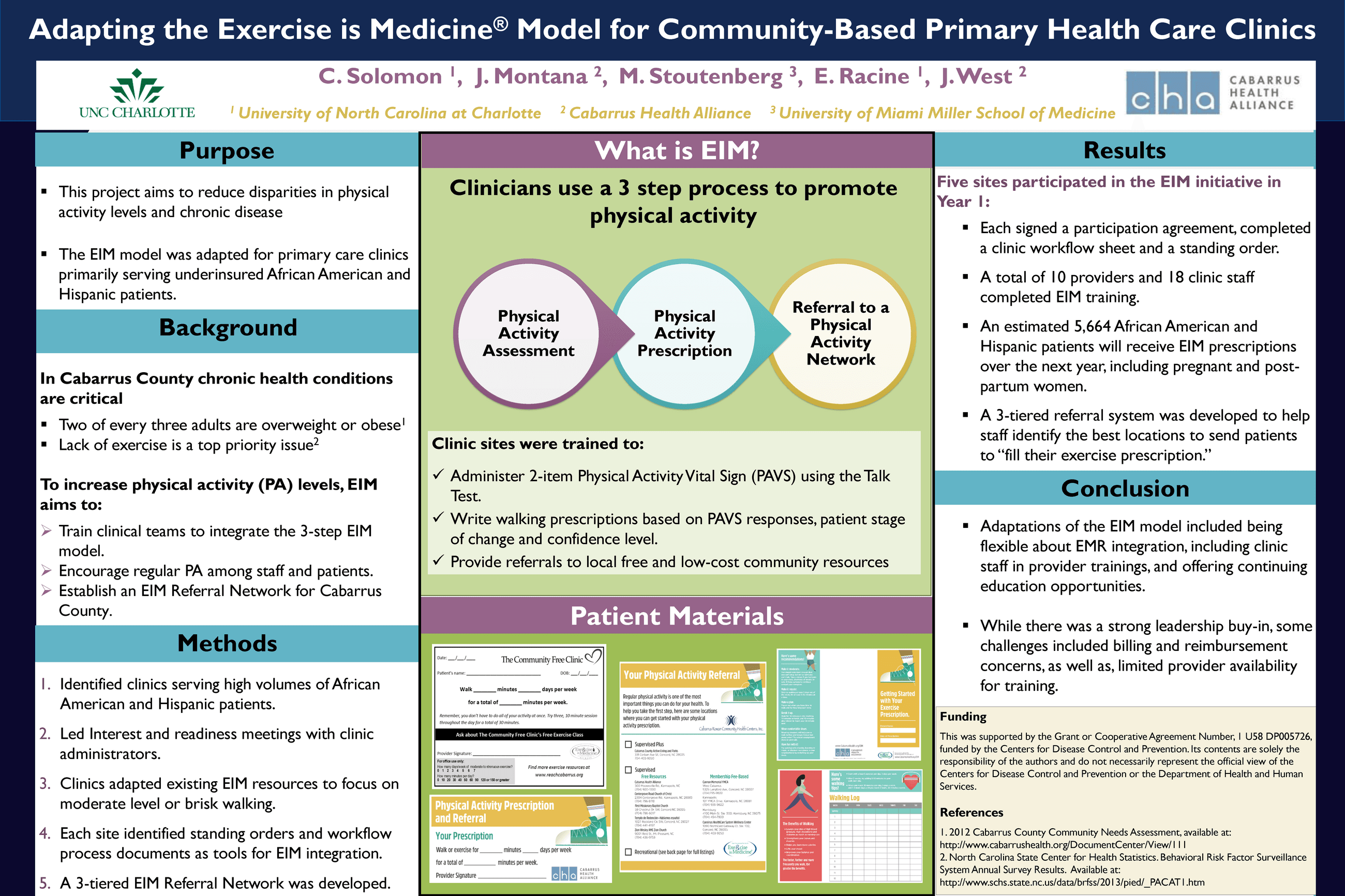 APHA - Exercise is Medicine Poster 10.16