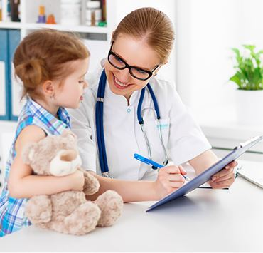Child visiting the doctor
