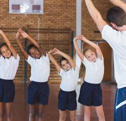 Students Exercising at School